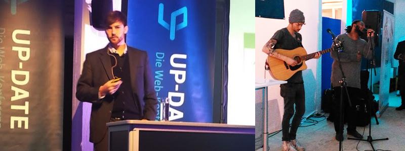 ABAKUS auf der Up-Date Konferenz 2016 - Robert Weller auf der Bühne und Konzert mit Sänger Marvin Brooks