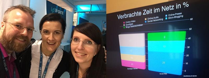 ABAKUS auf der Up-Date Konferenz 2016 - Gero Pflüger, Anna Pianka und Melanie Beck
