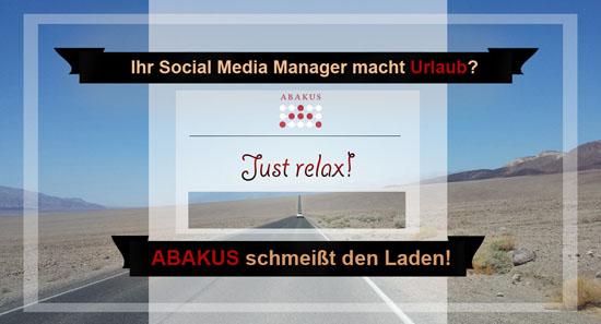 Urlaubsvertretung-Social-Media