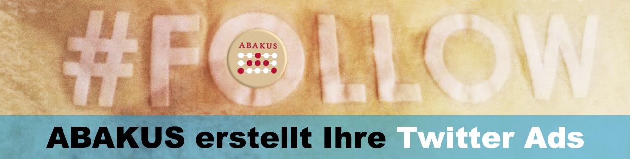 Twitter Werbung mit ABAKUS