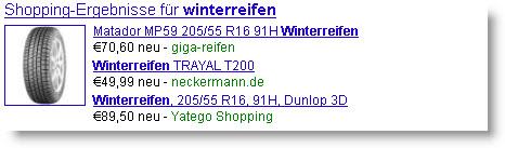 shoppingergebnisse,winterreifen