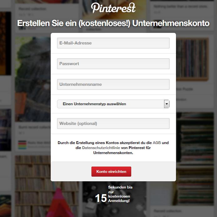 Registrieren bei Pinterest 4