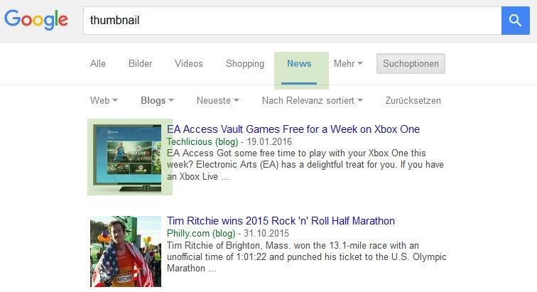 thumbnail Newssuche Google