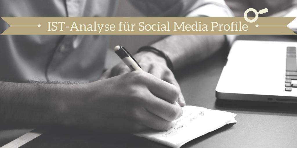 IST-Analyse für Social Media Profile