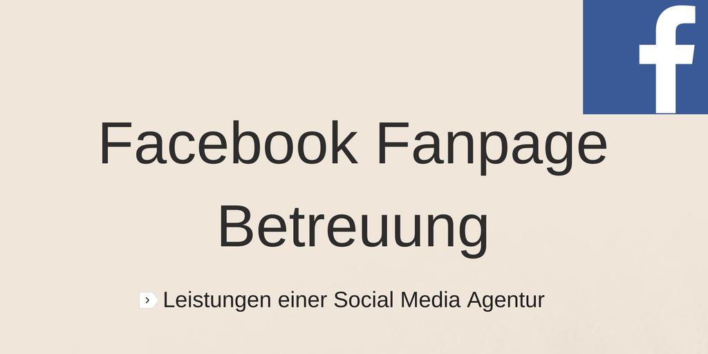 Facebook Fanpage Betreuung: Preise & Leistungen