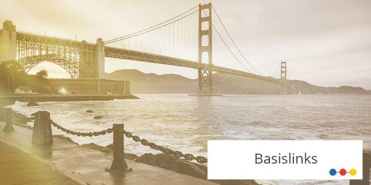 Seitlicher Blick auf die Golden Gate Bridge