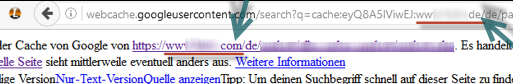 Rankingverlust_Google Snapshot