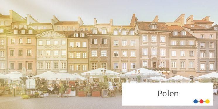 Blick auf Altstadt in Warschau