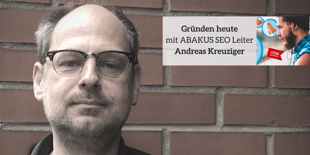 Gründen heute mit ABAKUS Seo Leiter Andreas Kreuziger