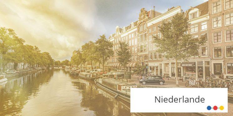 Blick auf Gracht in Amsterdam