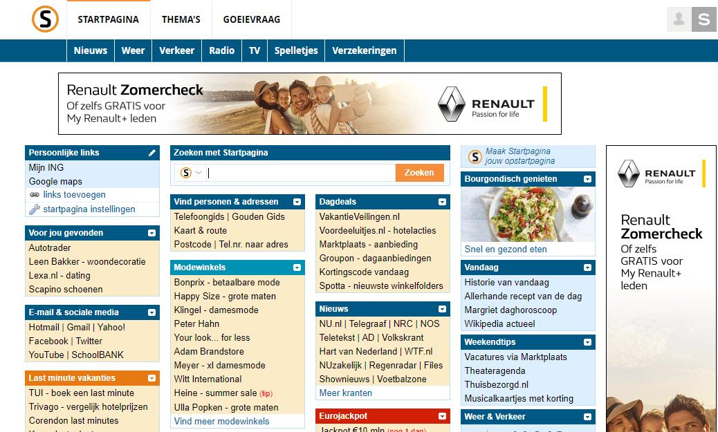Suchmarkt Niederlande. Startpagina