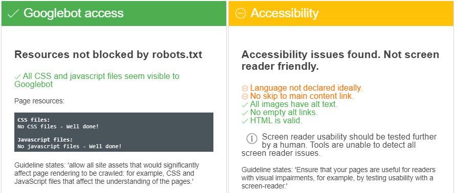 Test auf Lesbarkeit der CSS/JS-Dateien