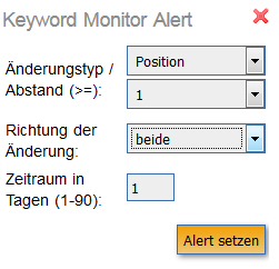 Keyword Monitor: Alert