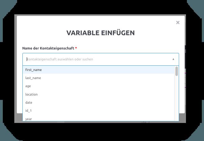 mailjet Variable einfügen