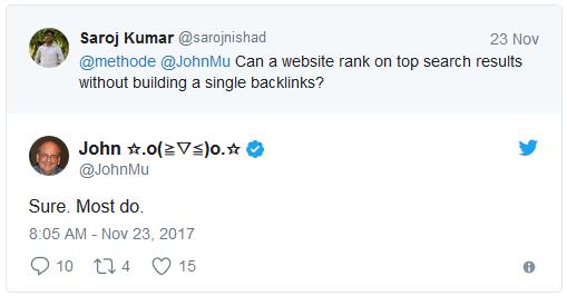Tweet Saroj Kumar - John Müller