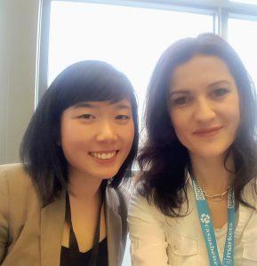 Google Mitarbeiterin Christa Chen und Anna Pianka beim Merchantday
