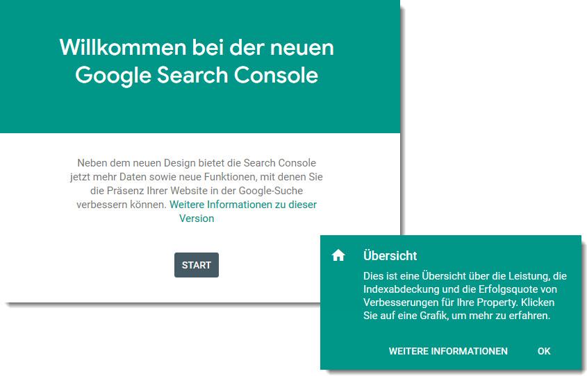 Wilkommen Google Search Console