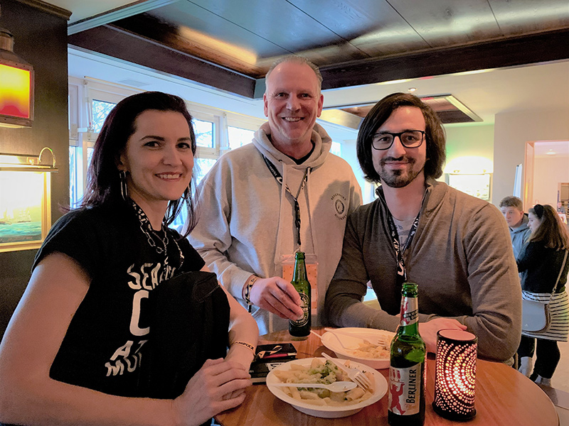 Anna Pianka, Martin Witte und Gabriel Gelman beim Gespräch auf der SEO Campixx