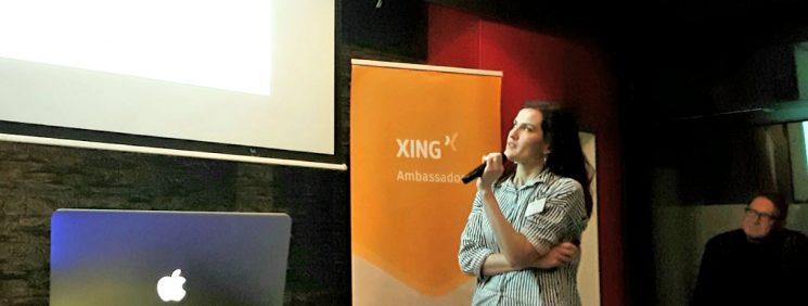Anna Pianka referiert beim 40. Webmontag in Hannover