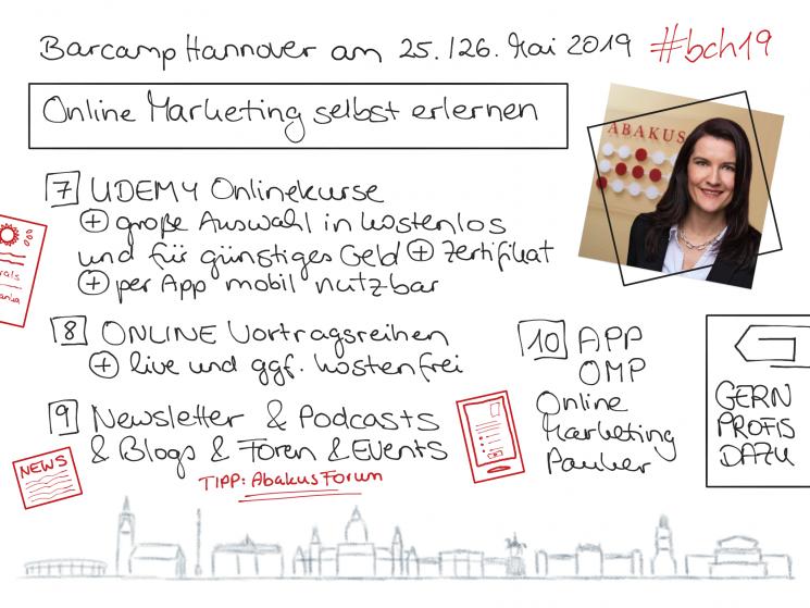 Barcamp Hannover ABAKUS Session zu kostenlosen und kostengünstigem Online Marketing Input für Beginner