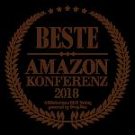 """Grafik/Siegel """"Auszeichnung zur besten AMAZON Konferenz 2018"""""""