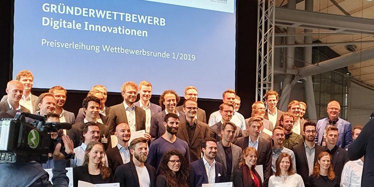 """Preisträger Gründerwettbewerb """"Digitale Innovationen"""" Wettbewerbsrunde 01/2019"""