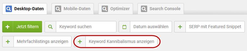 Keyword Kannibalismus Sistrix