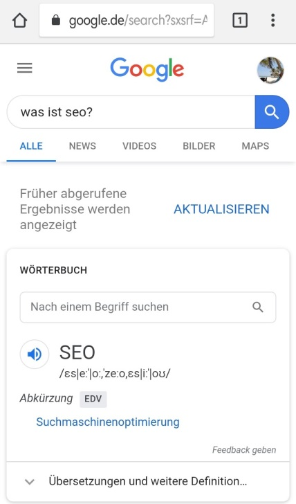 Infografik No Click Searches - Was ist SEO