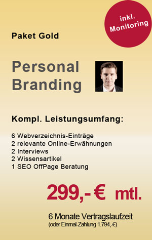 Personal Branding Paket Gold