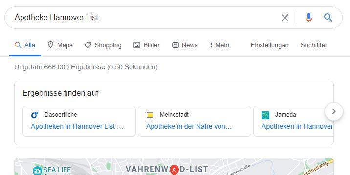 Apotheke Hannover List