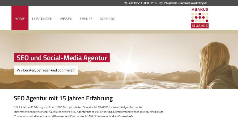 ABAKUS Website 2017 - Screenshot