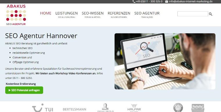 ABAKUS Website 2020 - Screenshot