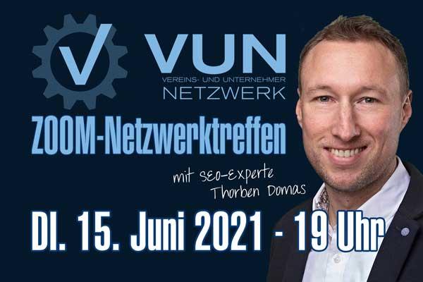 Impulsvortrag zu SEO mit Thorben Domas beim VUN-Netzwerktreffen