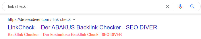 SERP LinkCheck SEO DIVER - Screenshot 1